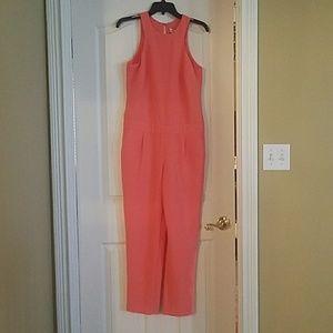 New Trina Turk orange jumpsuit size 8.